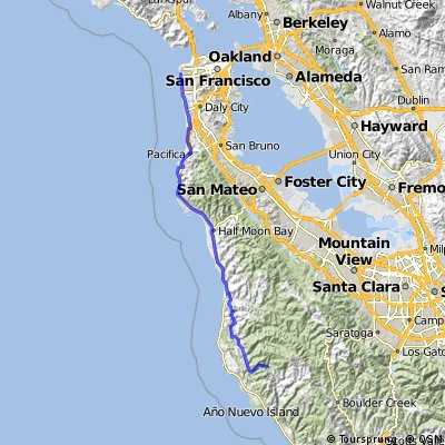 SF to End of Gazos Rd