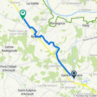 De 10 Rue du Midi, Saint-Porchaire à 3 Rue des Jardins, Beurlay