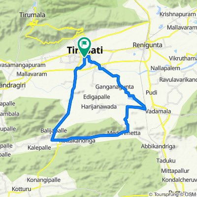 19-4-121/14D, Air Bypass Road, Tirupati to 19-4-121/14D, Air Bypass Road, Tirupati