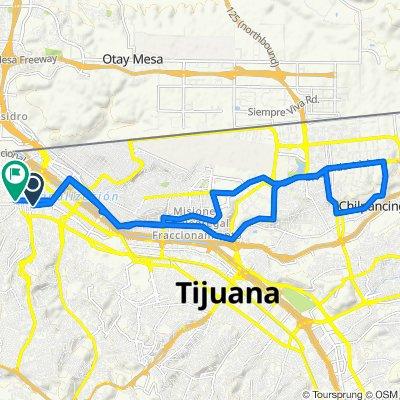 De Avenida Juan Sarabia 8570, Tijuana a Avenida Constitución 1660, Tijuana