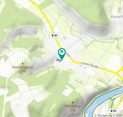 De Trierer Straße 48, Ayl à Trierer Straße 45, Ayl