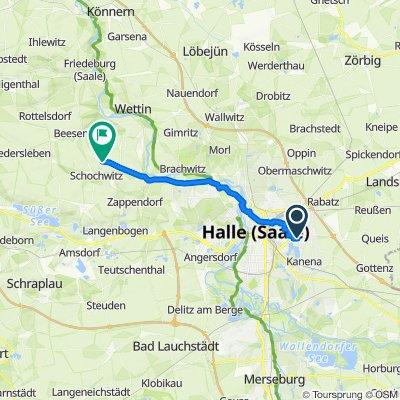Ringelnatterweg 14, Halle (Saale) nach Schochwitz, Bahnhof, Salzatal