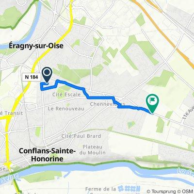 De 8 Rue Marc Seguin, Conflans-Sainte-Honorine à 357 Route de Conflans, Herblay