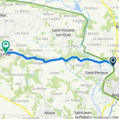 De 9 Rue de la Marionnette, Redon à 3 Rue Angélique le Sourd, Saint-Jacut-les-Pins