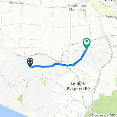De 196 Rue de Saint-Martin, Le Bois-Plage-en-Ré à 6 Rue de la Croix Gouin, Le Bois-Plage-en-Ré