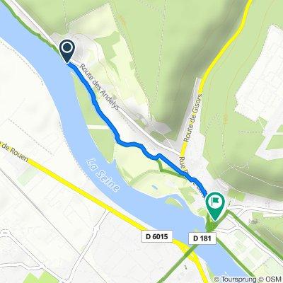 De 43 Route des Andelys, Vernon à 5 Rue Jules Soret, Vernon