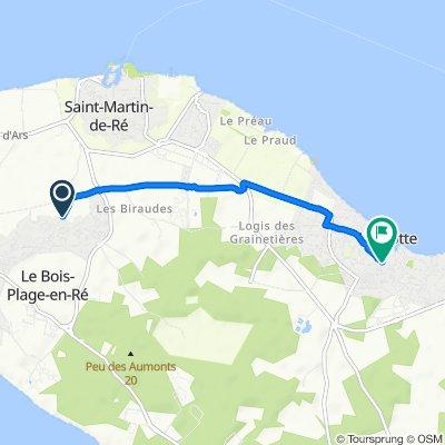 De Rue de la Croix Gouin, Le Bois-Plage-en-Ré à 1–4 Ruelle de l'Aimorin, La Flotte