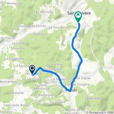 ItinéraireS vers 114 Le Parc Sud, Sainte-Alvère