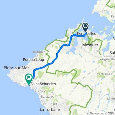 De 880 Route de la Bôle de Merquel, Mesquer à 2234 Avenue Louis Clément, Piriac-sur-Mer