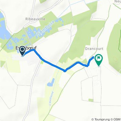 Route from 192 Rue de Pende, Estréboeuf