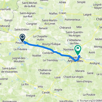 De 3 Rue Grand Prée, Pouancé à 2 Rue du Moulin Vert, Segré