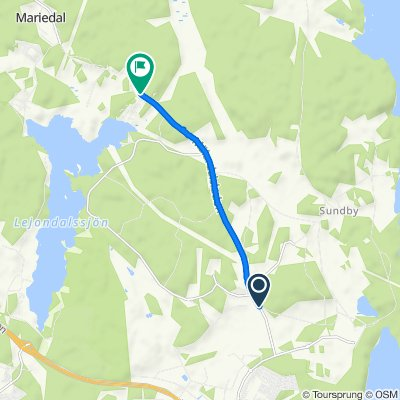 Tranbyggevägen, Upplands-Bro to Kurhagsvägen 5, Upplands-Bro