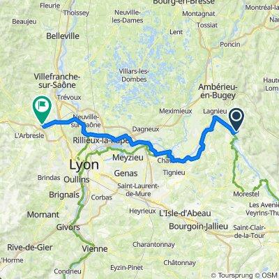 De 20 Rue de Vougy, Villebois à 109 Chemin des Pierres, Belmont-d'Azergues