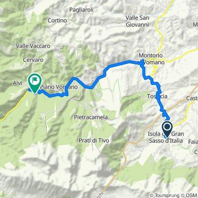 Da Viale Duca degli Abruzzi 3, Isola del Gran Sasso d'Italia a Via della Cannavine 1, Nerito