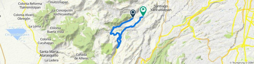 Ruta desde Avenida Santa Cruz, Huixquilucan