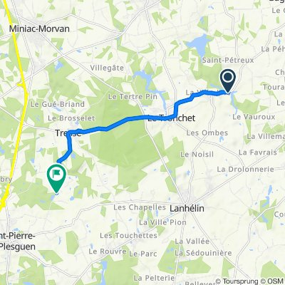 De Le Pont Menet, Le Tronchet a Lande Sèche, Mesnil-Roc'h