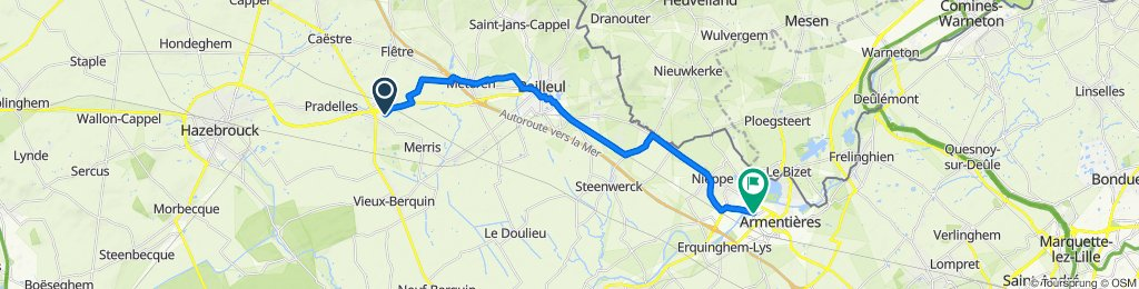 De 34–448 Route d'Hazebrouck, Merris à 8B Avenue Pierre Brossolette, Armentières