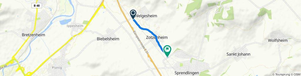 Außerhalb 3, Welgesheim nach K26, Sprendlingen