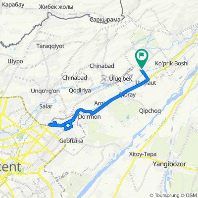 Unnamed Road, Аккавак до Узбекистан