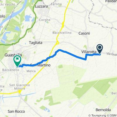 Da Viale Raffaello 12, Brugneto a Via Moro A. 6, Guastalla
