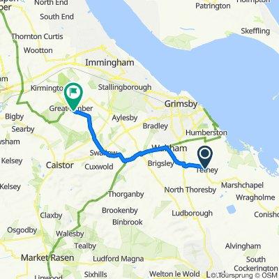 Waverley, Town Road, Grimsby to 2 Brickyard, Grimsby