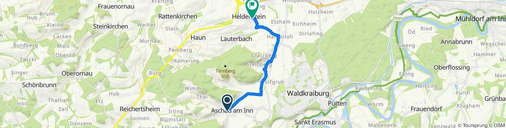 Lindenstraße 5, Aschau am Inn nach Schulstraße 3, Heldenstein