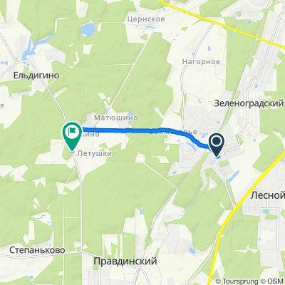 От Шоссейная улица, 1, Зеленоградский до 46К-8140, Ельдигинское