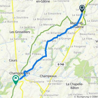 Itinéraire modéré en Germond-Rouvre