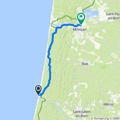 Restful route in Mimizan