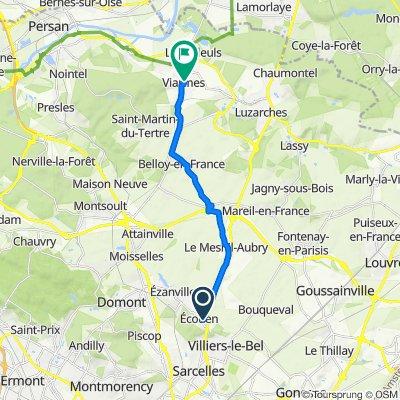 De 42 Rue du Maréchal Leclerc, Ecouen à 56–60 Avenue Georges Clemenceau, Viarmes