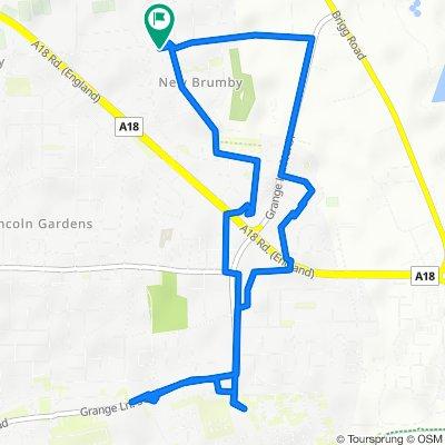 129 East Common Lane, Scunthorpe to 129 East Common Lane, Scunthorpe