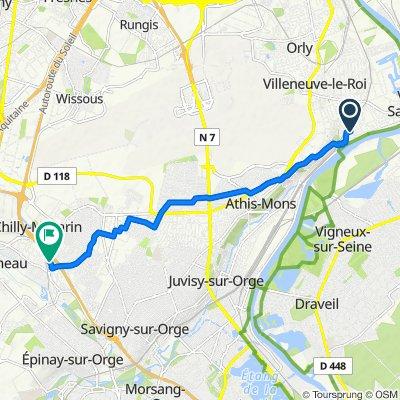 5 Avenue Auguste Duru, Ablon-sur-Seine to 28 Chemin du Pont des Maures, Chilly-Mazarin