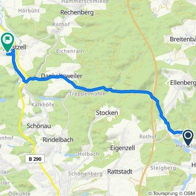 Haselbach 4, Ellenberg nach Gartenstraße 14, Jagstzell