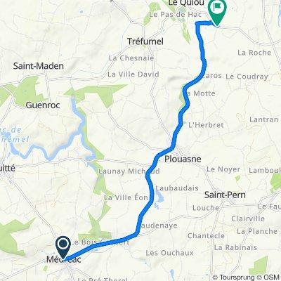 De 2 Place de l'Église, Médréac à Le Mauny, Le Quiou