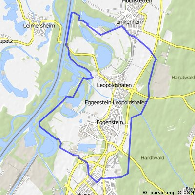 Tour de Baggersee / Karlsruher Norden