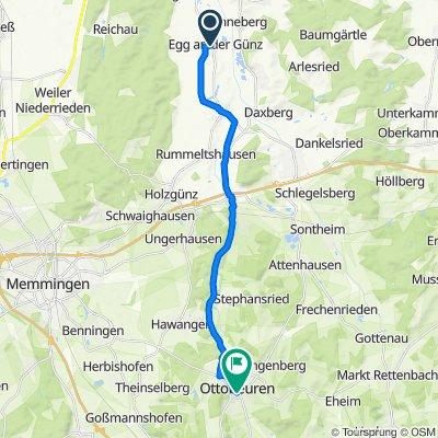 Hauptstraße 27, Egg an der Günz nach Silachweg 4, Ottobeuren