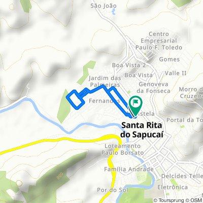 De Rua Juca Castelo, 344, Santa Rita do Sapucaí a Vila Tupinambas, 258, Santa Rita do Sapucaí