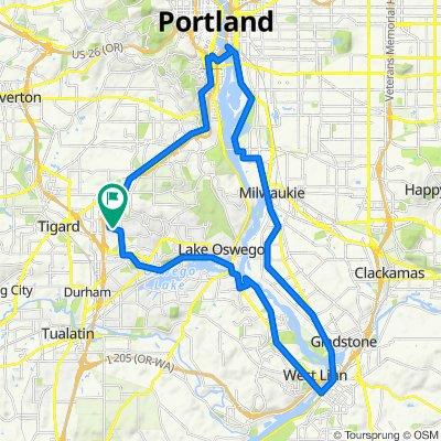 oregon city - portland - LO loop