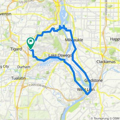 oregon city - sellwood - LO loop