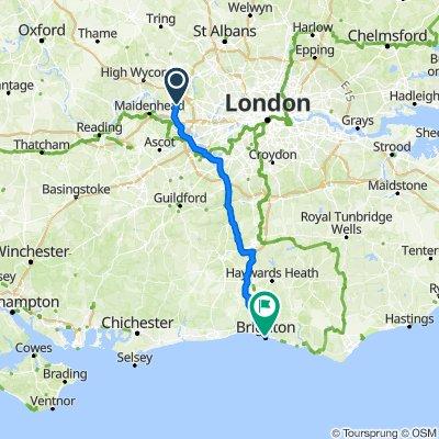Stoke Poges to Brighton