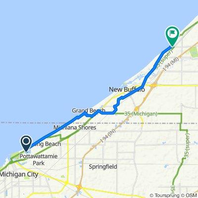 Beachwalk Ln to Lakeside, MI