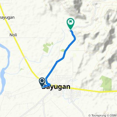 Route to Bayugan-Calaitan, Bayugan City