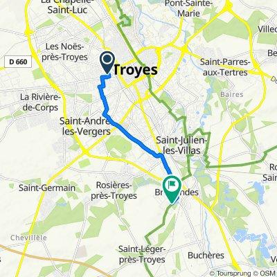 De 21 Rue Gambetta, Sainte-Savine à 19 Rue Jean Moulin, Bréviandes