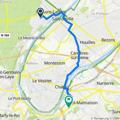48D Rue de la Procession, Maisons-Laffitte to 278bis Avenue Napoléon Bonaparte, Rueil-Malmaison