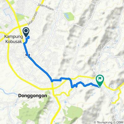 Lorong Gunung Bintang A, Kota Kinabalu to Jalan Inobong Putaton, Penampang