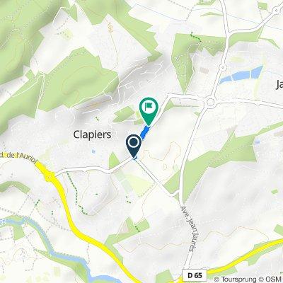 Avenue de Castelnau, Clapiers nach 20 Allée du Clos des Pins, Clapiers