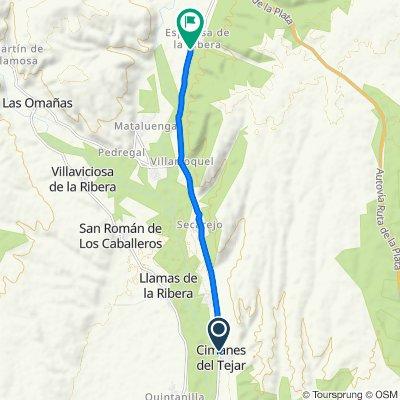 De Calle de San Andrés, 49, Cimanes del Tejar a Avenida de San Roque, 16, Rioseco de Tapia