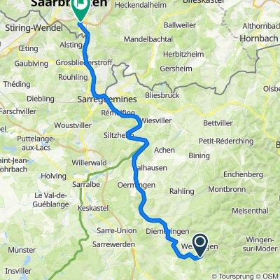 Grand Est: Tieffenbach bis Güdingen