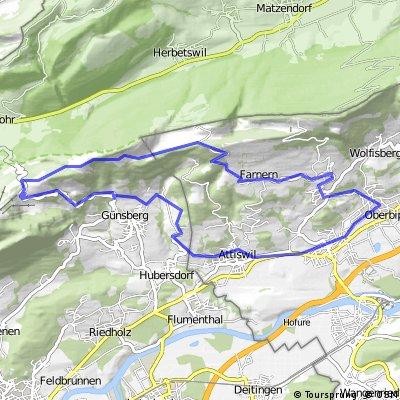 Bikerunde von Oberbipp auf den Balmberg