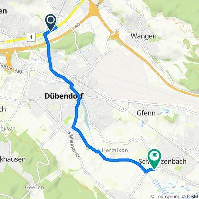 Widenholzstrasse 8, Wallisellen nach Fällandenstrasse 7, Schwerzenbach